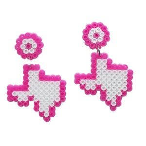 Pink Texas Earrings